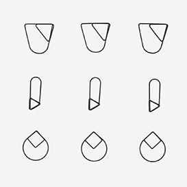 Set mit 9 Paper Clips Black>     </noscript> </div>          <div class=