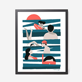 Swimmers in the Surf Screenprint>     </noscript> </div>          <div class=