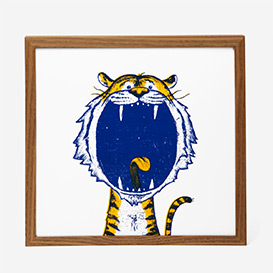 Tiger Screenprint Poster>     </noscript> </div>          <div class=