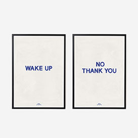 Wake Up No Thank You Art Print Double - A4>     </noscript> </div>          <div class=