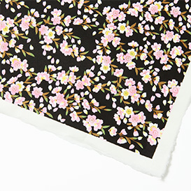 Yuzen Paper rose BLOSSOMS ON BLACK>     </noscript> </div>          <div class=