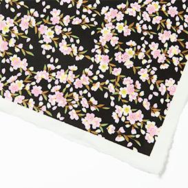 Yuzen-Papier Rosa Blüten auf Schwarz>     </noscript> </div>          <div class=